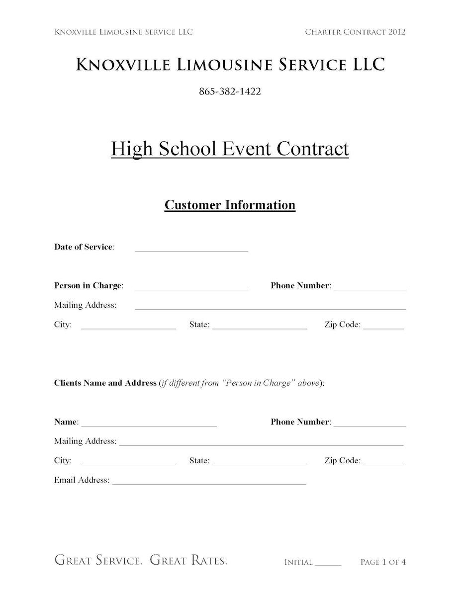 Limousine High School Contract